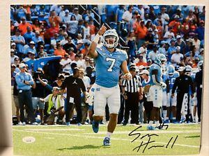 Sam Howell Signed North Carolina Tar Heels 11x14 Photo JSA