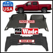 Westin Wade Sure-Fit Floor Mats Set for 2007-2013 Chevrolet Silverado Crew Cab