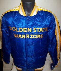 GOLDEN STATE WARRIORS Starter Snap Down Jacket BLUE  S M L XL 2X