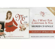 PRESALE Mariah Carey Signed All I Want For Christmas Is You CD Rare