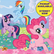 MY LITTLE PONY BIRTHDAY PARTY SUPPLIES 16 LARGE PAPER NAPKINS TABLEWARE