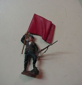 World War II or 1917 54mm Russian Sailor Flag Bearer