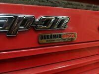 Duramax Diesel Unique Emblem/Toolbox or refrigerator magnet..(2-2)