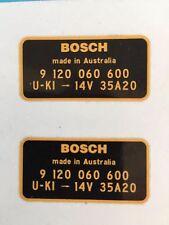 Bosch alternatordecal Holden HK HT HG LC Monaro Torana