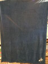 CONNECTICUT GI  Fleece Throw Blanket  Large  Navy Blue  New with Tags  Bedding