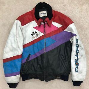 Polaris Winter Wear Racing Hein Gericke Leather Snowmobile Jacket - Large
