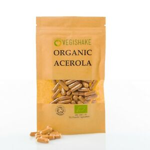 Organic Acerola HPMC Capsule Vitamin C Skin Hair Nail Health Immune Halal Kosher