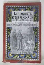 ******  LES SAINTS ET LES ANIMAUX - HENRI BOURGEOIS - 18 GRAVURES - E. O. 1900 *