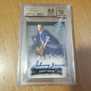 2006-07 Parkhurst Autographs Johnny Bower graded BGS 9.5