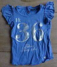 maat 98 - 104 BAKER BRIDGE T-shirt blauw L36cm B25cm 4jaar meisje girl 4 years