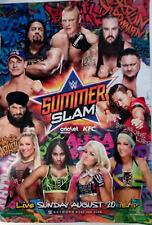 WWE SUMMER SLAM 2017 WRESTLING PPV Promotion POSTER Sponsors Advertising 39X27