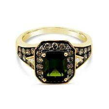 Nuevo Anillo Turmalina Vainilla diamantes Levian ® ® ® Diamantes De Chocolate 14K Verde Oro