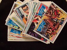 1966 TOPPS BATMAN BLUE BAT 9 CARD LOT - ROBIN -  JOKER - RIDDLER - PENGUIN!!!
