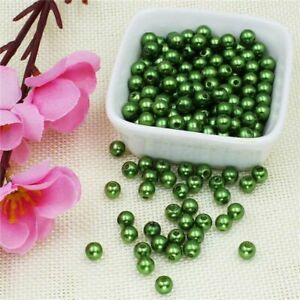 50pcs-1000pcs Abs Imitation Pearl Beads 3/4/5/6/8/10mm Plastic Loose Spacer Bead