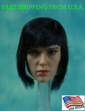1/6 Scarlett Johansson Head Sculpt Ghost In The Shell For Phicen Hot Toys ❶USA❶