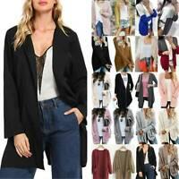 Womens Casual Knitted Cardigan Long Sleeve Sweater Fashion Coats Tops Plus Size