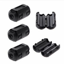 5pcs 5mm Clip-on Noise Ferrite Core Ring Bead Filter RFI EMI Cable Clip Black