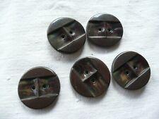 5 boutons  ancien vintage mercerie