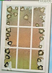 Instant Lead leaves Plaid Gallery Glass Redi 16683 Stained Glass Pattern Window