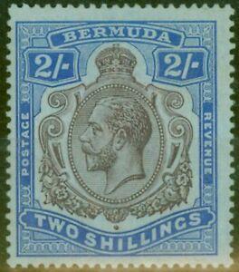 Bermuda 1920 2s Purple & Blue-Blue SG51ba Break in Scroll HPF 12b Fine Lightl