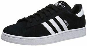 Adidas Men's Campus Sneakers, Core Black/White