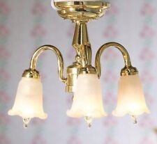 Light 5 Lamp Candle Chandelier 2009 brass dollhouuse miniature 1//12 scale