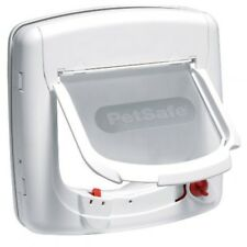 PetSafe Staywell Infra Red 4 Way Locking Deluxe Cat Flap - White Pet Door 500EF