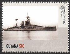 HMS BARHAM (04) Queen Elizabeth-Class Battleship WWI & WWII Warship Stamp