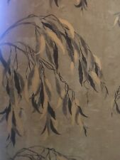 Luxury Designer wallpaper Zoffany Willow Song Gold Mustard Black feature wall