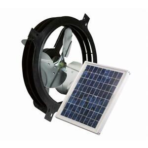 Air Vent 10-Watt Solar Powered Gable Fan 840 CFM Attic Ventilator