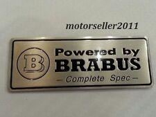 Aluminium BRABUS Logo Decal Badge Sticker Emblem For C E S CL Class G113
