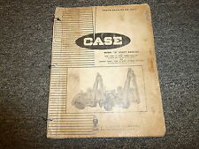 Case 31 Utility Backhoe for 530 540 530SL Tractor Parts Catalog Manual B672
