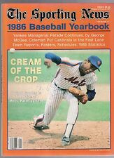 1986 THE SPORTING NEWS BASEBALL YEARBOOK-DWIGHT GOODEN-NEW YORK METS COVER