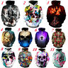 New Fashion Skull 3D Sweatshirt Hoodies Unisex Casual Pullover Jumper Tops S-5XL