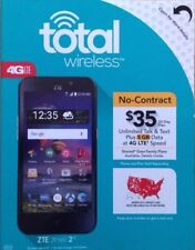 LOT OF 2 SEALED PHONE Total Wireless  ZTE ZFive 2 4G LTE with 8GB Memory Prepaid