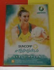 2019 Suncorp Super Netball - Gabi Simpson - Teamgirls TG 10 - Trading Card