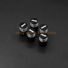 5pcs Laser Engraving LOGO Aluminum Alloy Tire Valve Stems Air Caps Fit JEEP