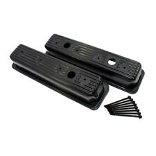1987-00 SBC Chevy/GMC Black Centerbolt Valve Covers - Tall Style 5.0 305 5.7 350