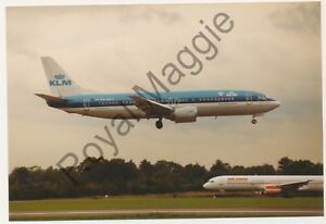 Colour print of KLM Boeing 737 406 PH-BDY at Manchester in 1993