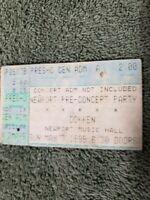 DOKKEN 1995 DYSFUNCTIONAL TOUR PRE-CONCERT PARTY TICKET STUB