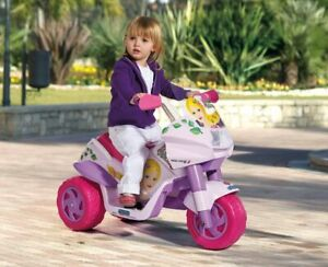 Bambini Bambine Peg Perego Moto a Tre Ruote Raider Princess
