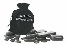 Art-of-Baan®  20 teiliges Hot Stone Set Massage Steine Basalt Stein Heiße Steine