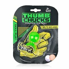 2 THUMB CHUCKS Luminous Finger Yoyo Ball Fidget Ball Toy Autism and ADHD Stress