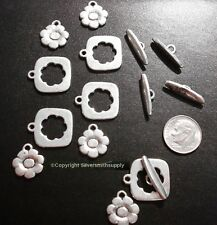 Toggle clasps 5 sets Silver plated flower design jewelry clasps 23mm FPC370