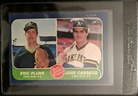 1986 FLEER #649 JOSE CANSECO ROOKIE CARD RC OAKLAND ATHLETICS MINT OC