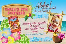Hawaii Luau Party  Kids   Adults  Hawaiian Invitation Digital File Hawaiian