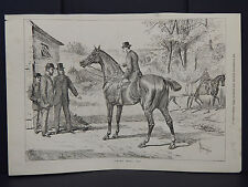 """Illustrated Sporting News 2s30/ """"Think He'll Do?""""/Oct 1878"""