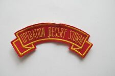 #6717 OPERATION DESERT STORM Word Tag Embroidery Sew On Applique Patch