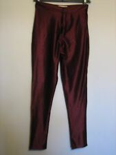 16y) WOMENS NAANAA SKIN TIGHT RED FAUX LEATHER TROUSERS ZIP FLY SIZE 8 LEG 28