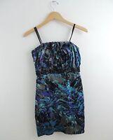 Women's BCBGeneration blue Purple & Black Strapless Dress Size 2
